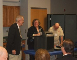 Al Parsons, Nancy Clark (Judge), and Ray Stone (RPA President) at ROPEX 2008