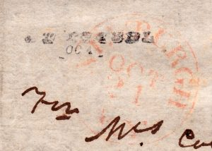 Provisional Point Isabel, TX Post Office Type 1 handstamp used for less than a month in 1846